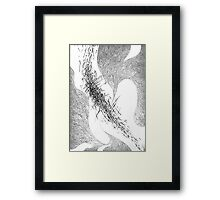 "Black and white graphics. ""Movement"". Framed Print"