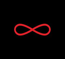 Infinity symbol red by jazzydevil