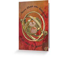 Timeturner : Harry Potter Greeting Card