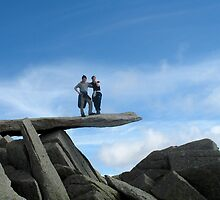 Peebleians Max & Sophie on the Cantilever, Glydr Fach N. Wales by rosie320d