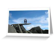 Peebleians Max & Sophie on the Cantilever, Glydr Fach N. Wales Greeting Card