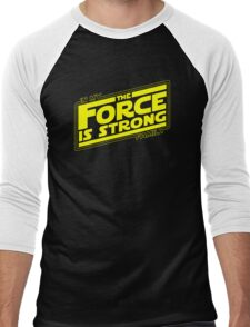 The force is strong in my family... [yellow] Men's Baseball ¾ T-Shirt