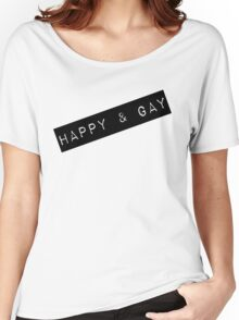 Happy & Gay Label Women's Relaxed Fit T-Shirt