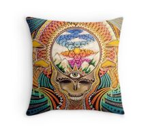 Psychedelic Grateful Dead Throw Pillow