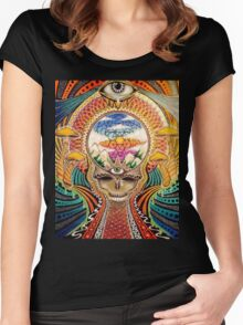 Psychedelic Grateful Dead Women's Fitted Scoop T-Shirt