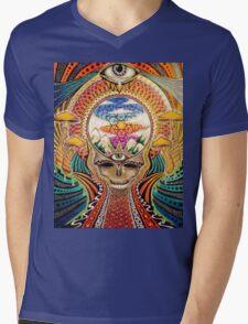 Psychedelic Grateful Dead Mens V-Neck T-Shirt