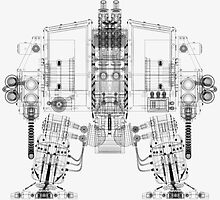 Dreadnought Wireframe by bradvanreenen