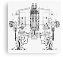 Dreadnought Wireframe Metal Print