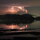 Lightning over Lake Macquarie by Steve D