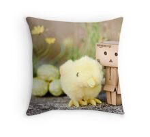 Danbo's first easter... Throw Pillow