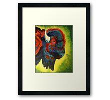 Bison Bright Framed Print