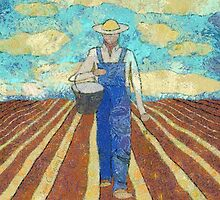 THE FARMER SOWING HIS CORN by Jean Gregory  Evans