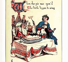 The Song Of Sixpence Pocket Book 1909 Walter Crane 18 - When the pie was Open'd The Birds Began to Sing by wetdryvac