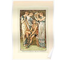 A Wonder Book for Girls and Boys by Nathaniel Hawthorne illustrated by Walter Crane 49 - Perseus Armed by the Nymphs Poster