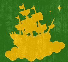 Peter Pan Minimalist Poster by TJ Ruesch