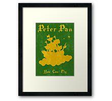 Peter Pan Minimalist Poster Framed Print