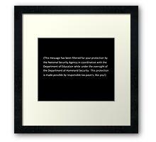 Thank you Citizen! Framed Print