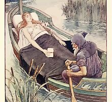 King Arthur's Knights - The Tale Retold for Boys and Girls by Sir Thomas Malory, Illustrated by Walter Crane 283 - The Death Journey of the Lily Maid Astolat by wetdryvac