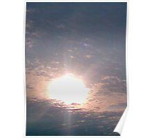 rippled sunset Poster