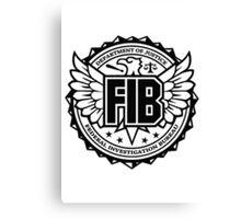 FIB - Federal Investigation Bureau Canvas Print