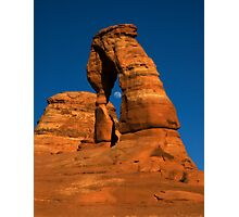Moonrise in Delicate Arch Photographic Print