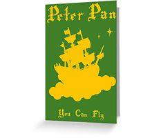 Peter Pan Minimalist Design Greeting Card