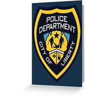 LCPD - Liberty City Police Department Greeting Card