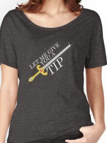 Let Me Give You a Tip - Super Smash Bros. [Fire Emblem] Women's Relaxed Fit T-Shirt