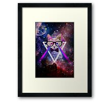 Illuminati space cat warrior Framed Print
