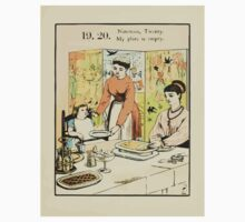 The Buckle My Shoe Picture Book by Walter Crane 1910 29 - Nineteen Twenty My Plate is Empty One Piece - Short Sleeve