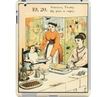 The Buckle My Shoe Picture Book by Walter Crane 1910 29 - Nineteen Twenty My Plate is Empty iPad Case/Skin