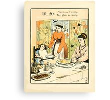 The Buckle My Shoe Picture Book by Walter Crane 1910 29 - Nineteen Twenty My Plate is Empty Canvas Print