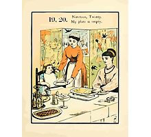The Buckle My Shoe Picture Book by Walter Crane 1910 29 - Nineteen Twenty My Plate is Empty Photographic Print