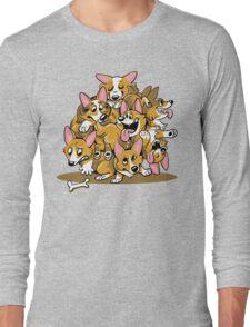 Corgi Cluster Long Sleeve T-Shirt