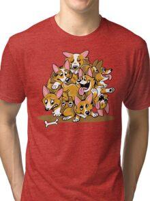 Corgi Cluster Tri-blend T-Shirt