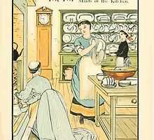 The Buckle My Shoe Picture Book by Walter Crane 1910 25 - Fifteen Sixteen Maids in the Kitchen by wetdryvac
