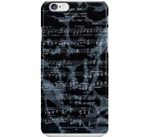 Anatomical Body Print on Vintage Music Page, Anatomy Wall Decor, Vintage Illustration Poster iPhone Case/Skin