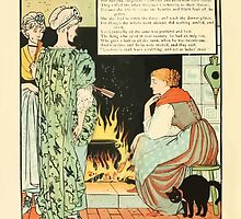 Cinderella Picture Book containing Cinderella, Puss in Boots, and Valentine and Orson Illustrated by Walter Crane 1911 10 - Daughter Dear by wetdryvac