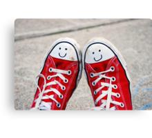Happy Shoes Canvas Print