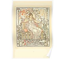 Queen Summer, or, The Tourney of the Lilly and the Rose by Walter Crane 1891 18 - Between their banners white and red Poster