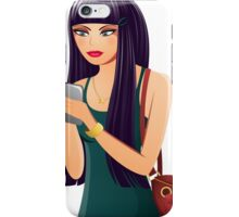 Cute Cell Phone Girl iPhone Case/Skin