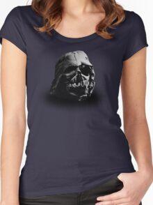 Darth Vader's Ruined Helmet Women's Fitted Scoop T-Shirt
