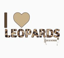 I Love Leopards Kids Tee