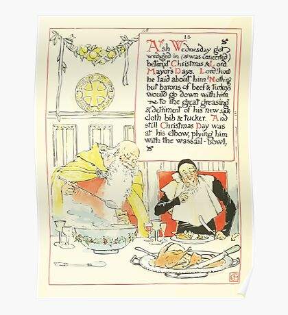 A Masque of Days - From the Last Essays of Elia 1901 illustrated by Walter Crane 22 - Ash Wednesday, Mayor's Days, Christmas Poster