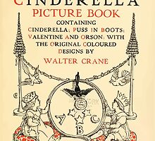 Cinderella Picture Book containing Cinderella, Puss in Boots, and Valentine and Orson Illustrated by Walter Crane 1911 7 - Interior Title Plate by wetdryvac
