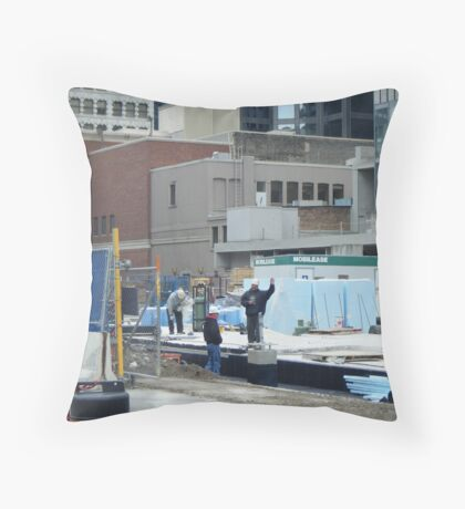 Waving not Working Throw Pillow