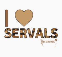 I Love Servals Kids Tee