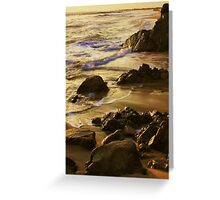 On Golden Sands Greeting Card