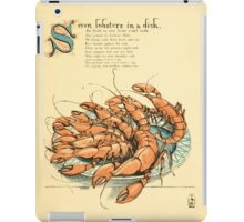 The Buckle My Shoe Picture Book by Walter Crane 1910 49 - Seven Lobsters in a Dish iPad Case/Skin