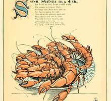 The Buckle My Shoe Picture Book by Walter Crane 1910 49 - Seven Lobsters in a Dish by wetdryvac